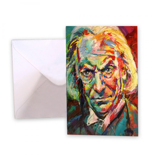 Dr Who 1 William Hartnell Greeting Card
