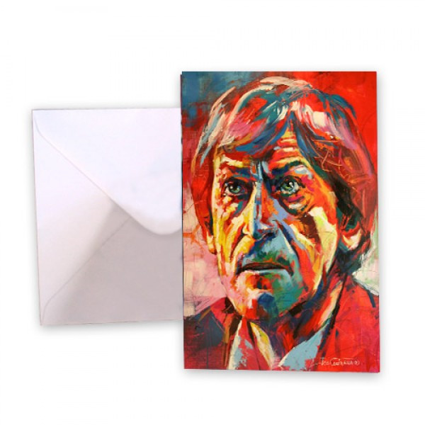 Dr Who 2 Patrick Troughton Greeting Card