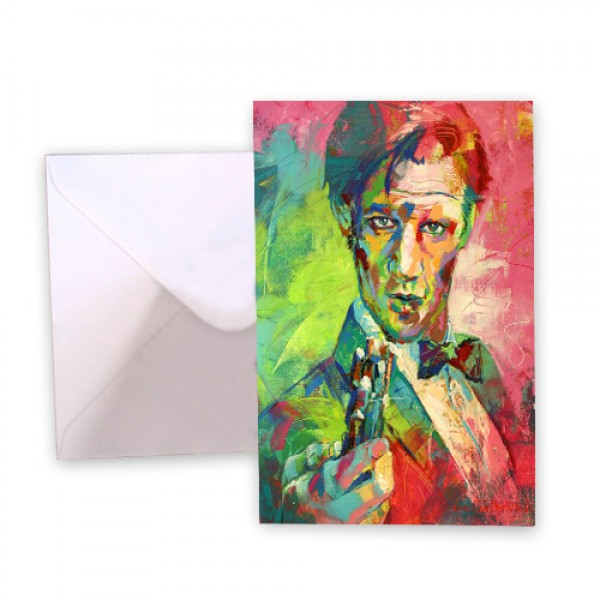 Dr Who 11 Matt Smith Greeting Card