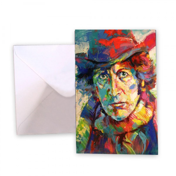Dr Who 4 Tom Baker Greeting Card