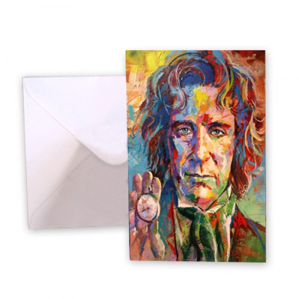 Dr Who 8 Paul McGann Greeting Card