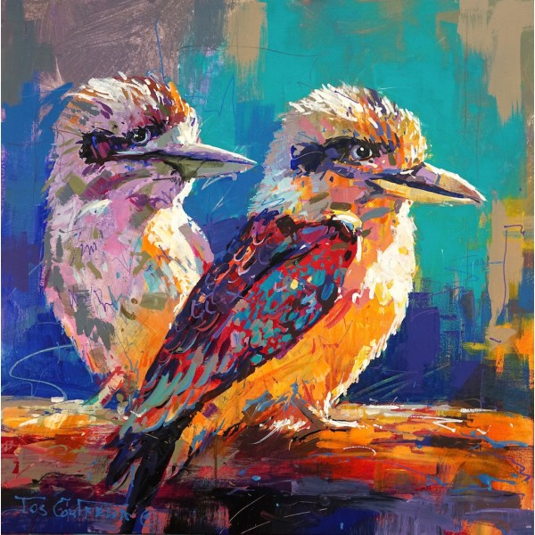 Pair of Kookaburras Canvas Print