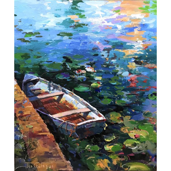Boat and Waterlilies 3